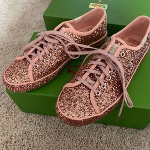 New in box Keds x Kate Spade All Glitter shoes!